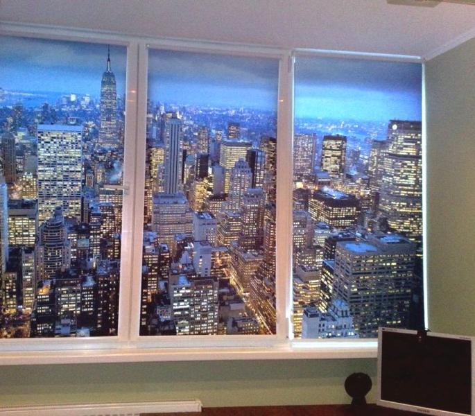 Рулонные шторы Ночной город от b-solution